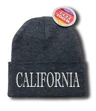 "FOR MEN WOMEN ""CALIFORNIA"" CALI FUNNY HOP Snowboard Ski Long Beanie HAT ONE SIZE"