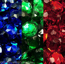 36pcs - 13mm Round Faceted Flat Back Acrylic Rhinestones **Buy 3 bags get 1 free
