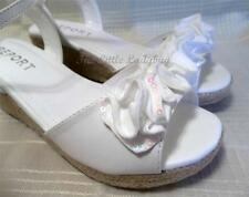NIB Report Footwear  White JUNIE Dress Sandals Shoes Youth Girls Size US 2 4 NEW