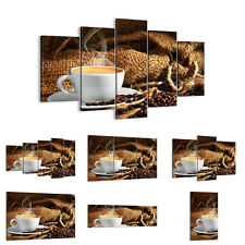 Canvas Picture 30 Shapes Print cappuccino cup grains bag 2383 UK