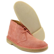 Clarks Des Boot Womens Desert New Shoes Suede Pink Size 3 4 9 10 UK