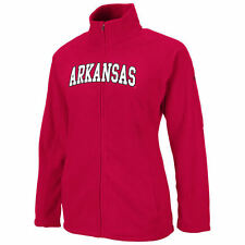 Womens Cardinal Snowflake Polar Fleece Full Zip Jacket