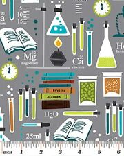 Chemistry Science Fabric Chemical School University College 100% Cotton Benartex