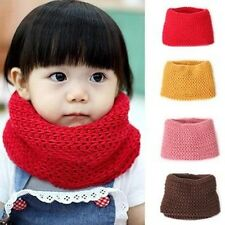 Pink Red Yellow Coffee Baby Kid Toddler Boys Winter Neck Warmer Knitted Scarf O
