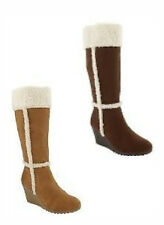 NWT OLD NAVY TALL FAUX SUEDE SHERPA TRIM BOOTS