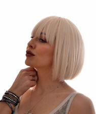 Katie | Short Straight Bob Fashion Wig With Fringe | Blonde, Black, Red, Grey