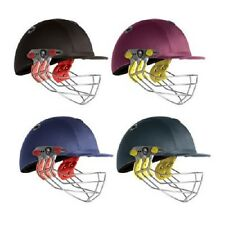 2014 Albion Ultimate Navy Junior Cricket Helmet - Steel Grill