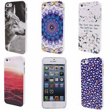 Luxury Red Cloud Flower Wolf Pattern Hard Back Case Cover for Apple iPhone 5 5S