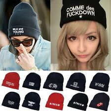 Celebrity style knit Hat BOY WILD&YOUNG embroidered Hip-Hop Unisex Beanie cap