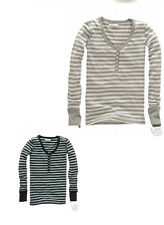 NWT AEROPOSTALE blue  or gray striped long sleeve Henley