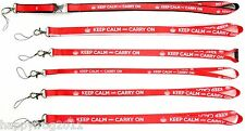 KEEP CALM and CARRY ON - SATIN LANYARD NECK STRAP MOBILE ID CARD KEYS IPOD MP3