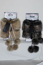 NW Tags Parkhurst Faux FurBoot Toppers 1size made in Canada style # 21418