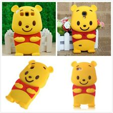 3D Cute Winnie The Pooh Soft Silicone Yellow Bear Protector Rubber Case