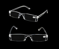 New Presbyopia 1.00-4.00 Diopter Eyeglasses Clear Rimless Reading Glasses