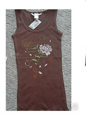 AEROPOSTALE Beater / Tank Brown Heart FOIL NWT