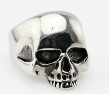 316L Stainless Steel Men's Cool Skull Ring Punk Jewelry Size 8 9 10 11 12 13