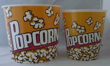 BPA Free Plastic Popcorn Bowl Medium or Large Container Tub Movie Theater Style