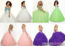 STOCK New Evening/Prom/Party/Quinceanera/Pageant dress/Ballgown/SZ 6 8 10 12 14