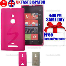 S-LINE SILICONE GEL CASE & FREE SCREEN PROTECTOR FITS NOKIA LUMIA 925