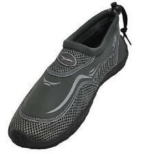 NEW MEN'S WATER AQUA SHOES SLIPPERS SWIMMING YOGA EXERCISE BEACH - GRAY - 1110-2