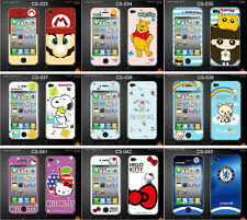 Colourful Minions Front Back Skin Sticker Screen Protector For iPhone 4 4S CS#