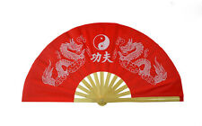 Chinese KungFu TaiChi Wushu martial art Dance Bamboo Bone Red Dual White Dragon