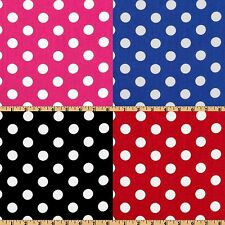 "20 Yards Polka Dot Satin Fabric 60"" Wide 100% Polyester Charmeuse Wholesale"