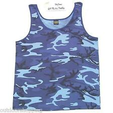 SKY BLUE CAMOUFLAGE USA MADE TANK-TOP – Summer Shirt, Physical Training