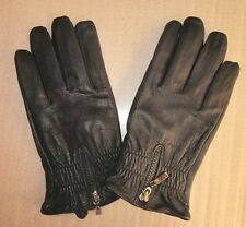 NEW BLACK FASHION MEN'S (100% REAL LEATHER) WINTER WARM GLOVES