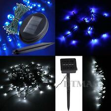 Blue/White LED Solar Powered String Fairy Lights Christmas Outdoor Party