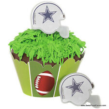COWBOYS DALLAS Football CAKE CupCake Cake Topper 12 18 24 Favors Decoration Kit