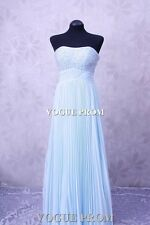 1273 Turquoise designer Long Bridesmaids Evening Ball Gown Party Prom Dresses UK