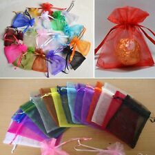 100 Pcs New Organza Jewelry Wedding Favor Gift Pouch Bags 7*9cm 2.7*3.5""