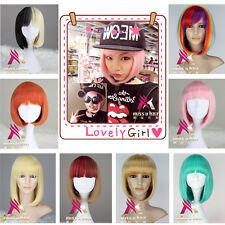 New Arrival Short Straight Synthetic BOB Hair Women Cosplay Wig Anime Lolita Wig