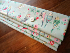 unlined ROMAN BLIND made in CATH KIDSTON BIG BUDGIES BLUE made up to 140cm wide