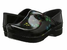 $135 NEW WOMENS DANSKO PROFESSIONAL SCATTER FLORAL PATENT SHOES CLOGS SIZE