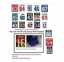 NHL Sewn Kit for Your Jersey (With Any Name and Number of your choice)