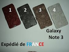 HOUSSE COQUE ETUI PORTEFEUILLE NATURE FOSSILE FEUILLE POUR SAMSUNG GALAXY NOTE 3