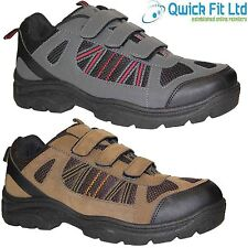 MENS QUALITY VELCRO HIKING BOOTS WALKING TRAIL TREKKING WORK TRAINERS SHOES SIZE