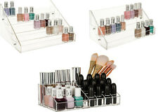 3 / 5 Tier / Cosmetic Nail Polish Clear Acrylic Display Organiser Makeup Stand