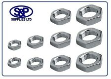 HEXAGON LOCK NUT BZP HALF NUT SIZE M10 TO M30 ZINC PLATED