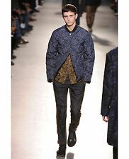 NWT DRIES VAN NOTEN RUNWAY BLUE PAISLEY QUILTED JACKET