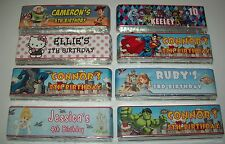 PERSONALISED CHOCOLATE BAR WRAPPER x6 - Many Designs - Party Bag Fillers 2 choos