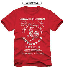 New Sriracha Hot Chili Sauce Adult T-Shirt Red S-5XL