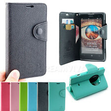 For Nokia Lumia 1020 PU Leather Flip Wallet Stand Case Cover Skin W/Strap+Flim