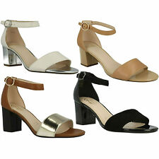 LADIES CLARKS BLOCK HEEL SMART SUBTLY RETRO ANKLE STRAP SUMMER SANDAL SUSIE DEVA