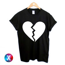BROKEN HEART PRINTED T SHIRT / MENS WOMENS TEE / HIPSTER LOVE SWAG RELIGION DOPE