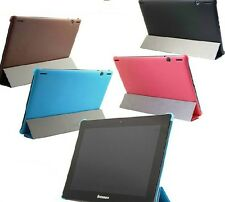 "NEW Smart Slim Leather Stand Case For 10.1"" Lenovo IdeaTab S6000 Tablet +Pen"
