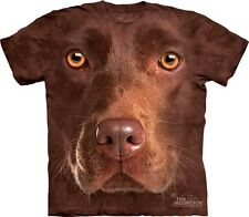 Big Face Chocolate Lab T-Shirt from Mountain Company.  Dog Head Tees S-3XL NEW