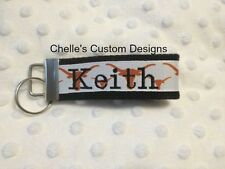 Texas Longhorns inspired key chain key fob**makes a great gift** Chelle